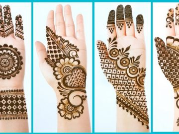 Top 4 Easy Stylish Simple Mehndi designs - Beautiful Mehendi design for front hands - Henna designs 21