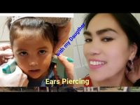 Ears Piercing Mother and Daughter with my 4 year old lil.girl here in Germany| Bodensee.