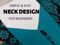 Easy Neck Design with Patch and Potli Buttons/Beginners/DIY 25