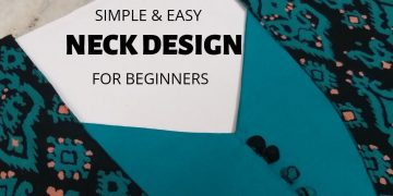 Easy Neck Design with Patch and Potli Buttons/Beginners/DIY 17