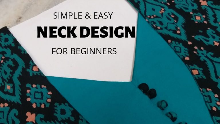 Easy Neck Design with Patch and Potli Buttons/Beginners/DIY 1