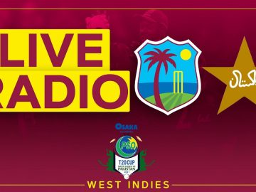 🔴LIVE RADIO | West Indies v Pakistan | 3rd Osaka Presents PSO Carient T20 Cup Match 3
