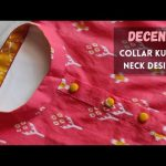 Collar Kurti Front Neck Design with Button Placket /Easy Collar Cutting 1
