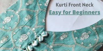 Easy Way To Making V Neck Design with Button Placket @Roshni Sewing House 3