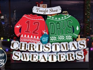 12 Days of Christmas Sweaters 2020 | The Tonight Show Starring Jimmy Fallon
