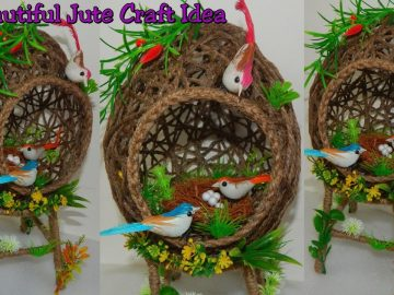 Jute Craft Idea For Home Decoration/ Best Out of Waste Idea/ DIY Beautiful Bird House with Jute