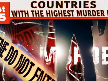 The 25 Countries with the Highest Murder Rates (2018)