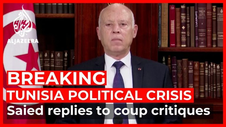 Tunisian president replies to coup critiques: 'I have followed the constitution'