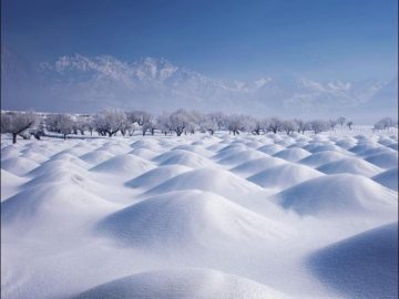 Beautiful Skardu covered with heavy snow in Baltistan Pakistan. 13
