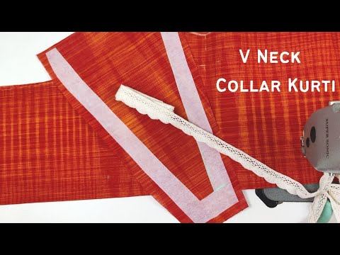 😎Smart Looking Latest V Neck Collar Design Cutting and Stitching 1