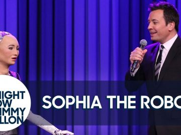 """Sophia the Robot and Jimmy Sing aDuet of""""SaySomething"""""""