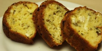 French Savory Cake Recipe - with Cheese and Herbs