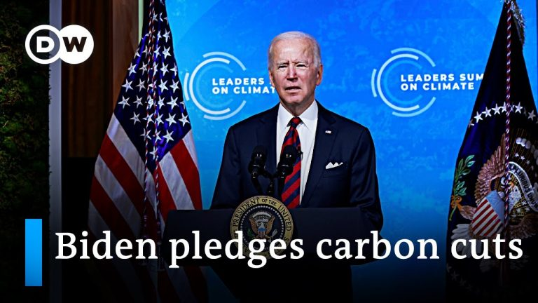 Joe Biden pledges to cut US emissions 50% by 2030 at Earth Day climate summit   DW News