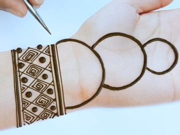 Easy trick mehndi design for front hands - Beautiful and simple mehndi design 2020 7