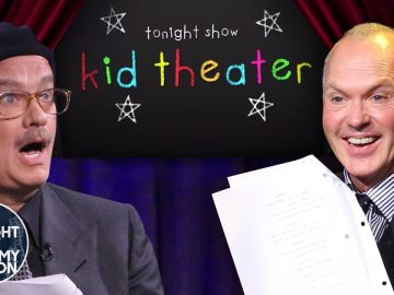 Kid Theater with Tom Hanks and Michael Keaton | The Tonight Show Starring Jimmy Fallon