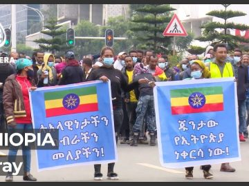 Thousands rally in Ethiopia in support of troops in Tigray conflict