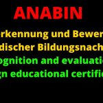 Check these Two Things on Anabin   Recognition & Evaluation of Foreign Educational Certificates