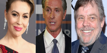 Stars like Alyssa Milano, Mark Hamill and more voiced their support for Newsom 15
