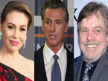 Stars like Alyssa Milano, Mark Hamill and more voiced their support for Newsom 11
