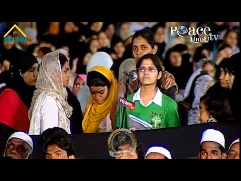 Where did this cruel girl get such a difficult question from in front of Dr. Zakir Naik?