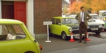 Mr Bean's FOOLPROOF Car Parking System   Mr Bean Funny Clips   Classic Mr Bean