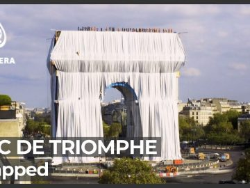 Paris's Arc de Triomphe gets 'wrapped' in homage to late artist Christo