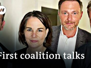 German election: Greens and FDP meet for preliminary two-way talks   DW News
