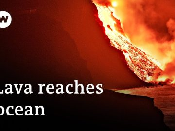 Lava from La Palma volcano reaches Atlantic Ocean, prompting fears of poisonous gas   DW News