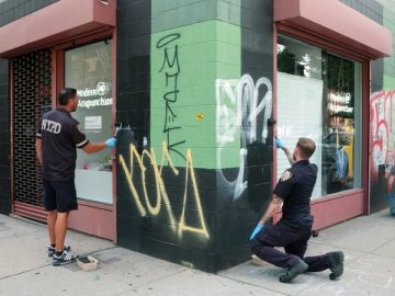 Graffiti Artist Fearlessly Tags NYU Structures
