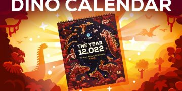 The Limited Edition Dinosaur Calendar – Now And Then Never Again