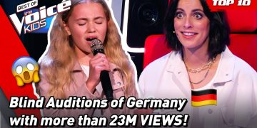 The MOST VIEWED Blind Auditions of The Voice Kids Germany 2021! 🎉 | Top 10 10