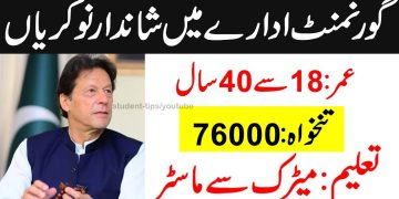 New Government jobs in Pakistan    Highly Pain Vacancies    Download Application form