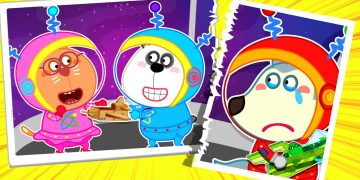 Wolfoo! Let's Share Spaceship and Adventure Outer Space - Kids Stories | Wolfoo Family Kids Cartoon 14