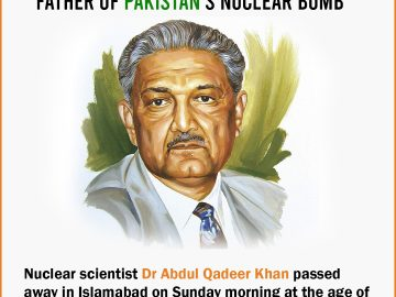 Dr. Abdul Qadeer Khan has died aged 85 after being hospitalized with Covid-19. 10