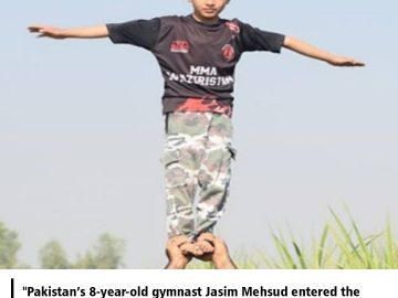Pakistan's 8-year-old gymnast Jasim Mehsud entered the Guinness World Record Book. 7